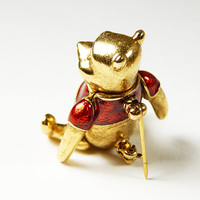 Vintage Winnie The Pooh Pin With Moving Arms And Legs - Pooh Bear - Vintage Disney - Vintage Collectibles - Vintage Jewelry