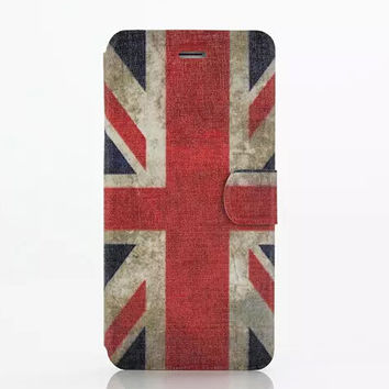 United Kingdom Flag Leather creative case Cover for iPhone 6S 6 Plus Samsung Galaxy S6