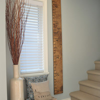 Wood Ruler Measuring Height Chart