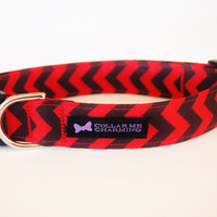 Red and Black Dog Collar Chevron