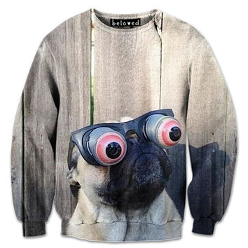 Pug Bug Eyes Sweatshirt