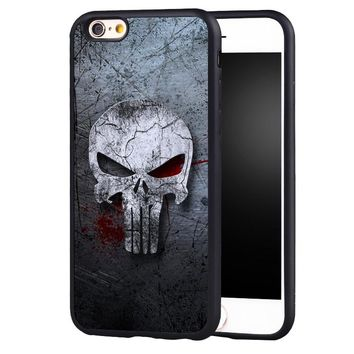Punisher Skull Case Cover  for iphone 7 7plus 6 6splus 5 5s 5c SE