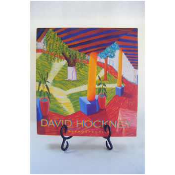 David Hockney Retrospective Art Vintage Book Fine Art Drawings Photography Painting Los Angeles Museum Metropolitan Tate Gallery 1980s