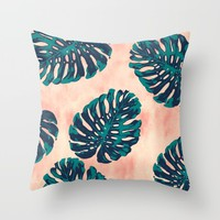 CALIFORNIA TROPICALIA Throw Pillow by Nika | Society6