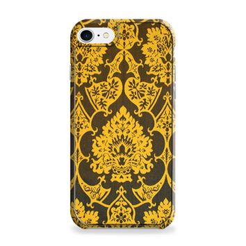 Gothic Black Gold Damask Pattern iPhone 7 | iPhone 7 Plus Case