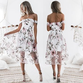 Prom Dress Dress Hot Sale Floral One Piece [224324026383]