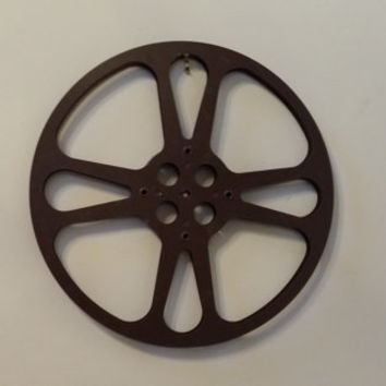 Vintage Large Metal Film Reel Great Industrial Decor Perfect for Home Theater Movie Room Wall Art