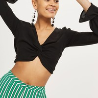 Twist Front Crop Top | Topshop