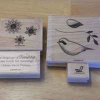 Stampin Up Set of 4 The Language of Friendship For Use with Matching Bird Punch