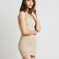 Sleeveless V-Neck Bodycon Camisole Mini Dress