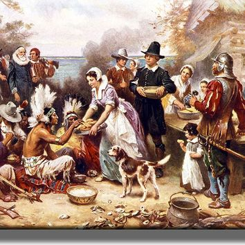 First Thanksgiving Picture on Acrylic , Wall Art Décor, Ready to Hang!