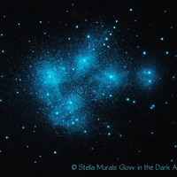 Glow in the Dark Star Poster The Pleiades Star Cluster - Matariki