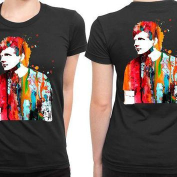 CREYP7V Ed Sheeran Luke And Slavi 2 Sided Womens T Shirt