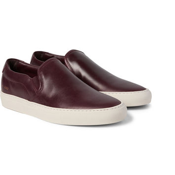Common Projects - Leather Slip-On Sneakers | MR PORTER