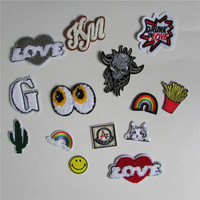 1pcs sell mixture sell patch hot melt adhesive applique embroidery patch DIY clothing accessory patch C2013-C700