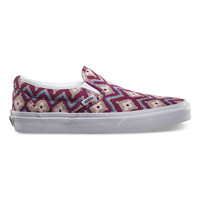 Vans Geometric Classic Slip-On Womens Shoes Festival Fuchsia  In Sizes