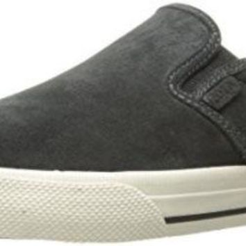 DCCK8BW Polo Ralph Lauren Men's Vaughn Slip Sneaker Dark Charcoal Grey 7 D US