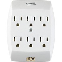 Staples 6-Outlet Wall Tap