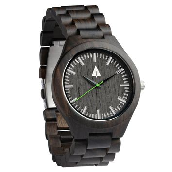 All Wood Watch // All Ebony Theo Green