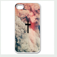Apple iPhone 4 4G 4S 5 Case Cover Cute Smoke Cross by CaseRepublic