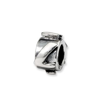 Sterling Silver Letter L, Alphabet Bead Charm