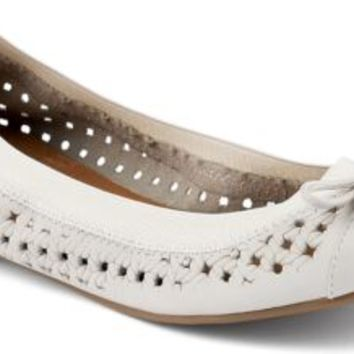 Sperry Top-Sider Elise Perforated Ballet Flat Ivory, Size 5.5M  Women's Shoes