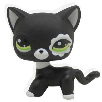 ICIK272 2017 New Rare Black Cat Blue Eyes Cute Kitten Littlest Pet Shop Toys Animals Kids Gift