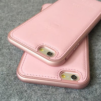 Pink Black Leather Phone Cases for Iphone 6 / Iphone 6 Plus