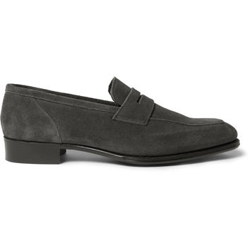 Kingsman - + George Cleverley Newport Suede Penny Loafers