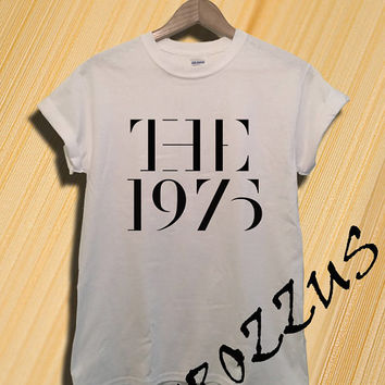 The 1975 Band Shirt Hot Models Matt Healy Shirt T-shirt Tee Shirt  Black Grey and White Unisex Size