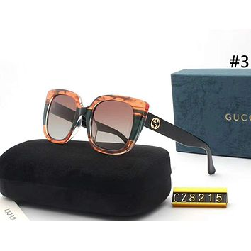 GUCCI Tide brand personality fashion wild women models interlock double G large frame polarized sunglasses #3