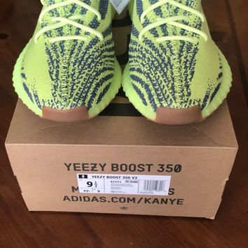 ADIDAS YEEZY BOOST 350 V2 SEMI FROZEN YELLOW SIZE 9.5