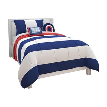 Heritage Kids Rugby Stripe Comforter Set | Wayfair