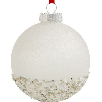Holiday Lane Glass Glitter & Beads Ornament, Created for Macy's | macys.com