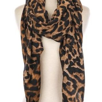 Cheetah Print Oblong Scarf