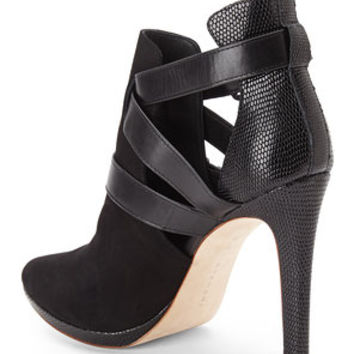ELIE TAHARI Black Waverly Booties
