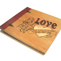 Personalized Scrapbook Album Custom Wood by BillsWoodenPleasures