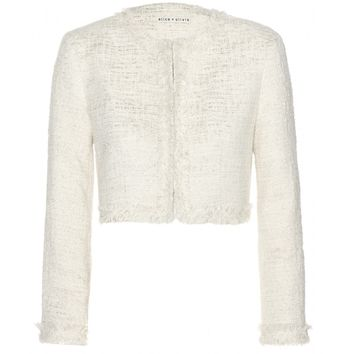 alice + olivia - boxy tweed jacket