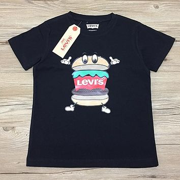 Levis Children Boy Girl Casual Print Shirt Top Tee