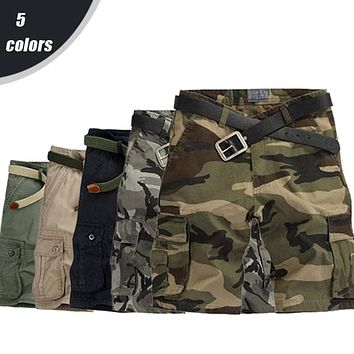 On Sale Combat Mens Camo/Camouflage Shorts Military/Army Cargo Shorts colors light/dark/black/green/khaki