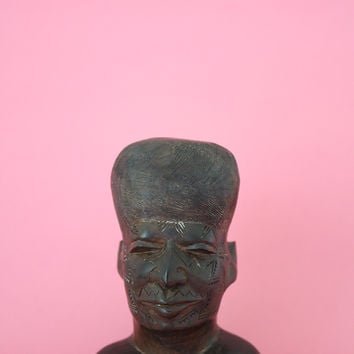 Hand Carved Ebony Wood Small Bust
