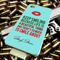 Marilyn Monroe Quote 3 for iPhone 4/4s/5/5s/5c/6/6 Plus Case, Samsung Galaxy S3/S4/S5/Note 3/4 Case, iPod 4/5 Case, HtC One M7 M8 and Nexus Case ***