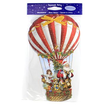 Christmas HOT AIR BALLOON ADVENT CALENDAR Made In Germany Double Sided 94571