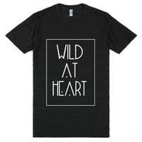 Wild At Heart Organic Tee-Unisex Athletic Black T-Shirt