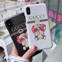 Gucci print eyeglasses bears  iphone case for iphone 6/7/8/6plus/7plus/8plus/X