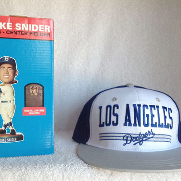Duke Snider Bobblehead and SNAPBACK Logo Hat