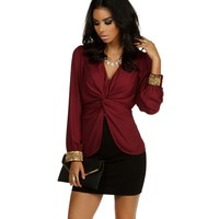 Burgundy All Yours Blouse