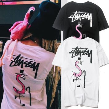''Stussy'' Hot letters print T-shirt top