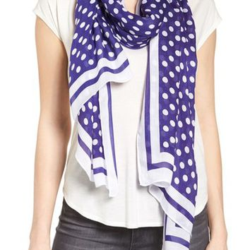 kate spade new york polka dot oblong scarf | Nordstrom