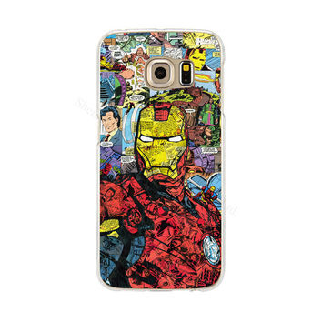 Ironman Phone Back Cover Case for Samsung Galaxy S3 S4 S5 Mini S6 S7 Edge